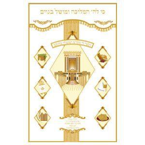 איור של בית המקדש על פרוכת